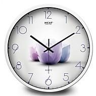 Garden Elegant Lotus Living Room Wall Clock