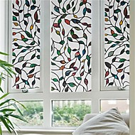 Contemporary 3D Colorful Leave Pattern Anti-static Window Film