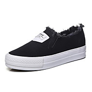 Women's Flats Summer Comfort / Closed Toe Canvas Casual Flat Heel Others Black / White