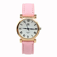 Women's Digital Pointer Leather Strap Printing Students Casual Quartz Watches