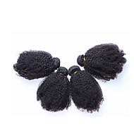 3pcs / lot 10 '' - 26 '' Braziliaans maagdelijk haar afro kinky krullend menselijk haar weave extensions