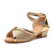 Kids' Dance Shoes  / Paillette Latin Heels Flat Heel Practice / IndoorRed