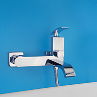 Art Deco/Retro / Modern Shower Only Widespread with  Ceramic Valve Single Handle Two Holes for  Chrome , Shower Faucet