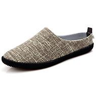 Men's Shoes Linen / Fabric Casual Flats / Casual Walking Flat Heel Slip-on Blue / Royal Blue / Beige / Khaki