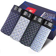 SHINO® Bomuld / Bambus Karbon Fiber Boxer Shorts 4 / kasse-F029