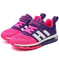 Kényelmes-Lapos-Női cipő-Tornacipők-Alkalmi Sportos-Tüll PU-Piros