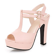 Women's Shoes Heel Heels / Peep Toe / Platform Sandals / Heels Outdoor / Dress / Casual Black / Pink / Almond/687