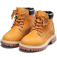 Boys' Shoes Outdoor / Athletic / Casual Nappa Leather Boots Spring / Fall / Winter Combat Boots Lace-up Brown