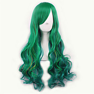 Green/Yellow Lolita Ombre Wig Pelucas Pelo Natural Synthetic Wig Heat Resistant Perruque Cosplay Wigs Curly Peruca