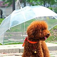 Cachorro Guarda-Chuva Animais de Estimação Transportadores Prova-de-Água Portátil Sólido Transparente