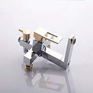 The new sole transformers series square full copper shower shower set Gold-plated half YinKuan