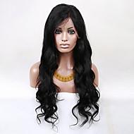 evawigs 22-28 pulgadas pelucas naturales sin procesar brasileña virginal del cuerpo del pelo humano frente a la manera del cordón de la