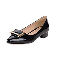 Women's Shoes Patent Leather Summer/ Pointed Toe Heels Office & Career / Casual Chunky Heel AppliqueBlack/Blue/Red