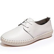 Women's Shoes Nappa Leather Spring / Summer / Fall / Winter Comfort Flats Athletic / Casual Black / Brown / White