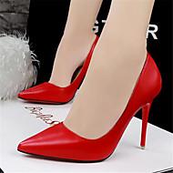 Women's Heels Summer Heels PU Casual Chunky Heel Others Black / Pink / Red / White