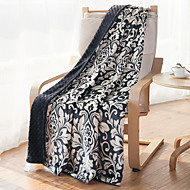 "Flannel Blankets Bed Blanket W59""×L70""Warm and Easy Care Floral Pattern"