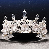 Women's Rhinestone / Crystal / Brass / Imitation Pearl / Resin Headpiece-Wedding / Special Occasion Tiaras 1 Piece