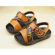 Boy's Sandals Summer Flats / Sandals Leather Outdoor Others Blue / Yellow / White