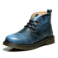 Men's Shoes Nappa Leather Outdoor / Casual Athletic Shoes Outdoor / Casual Hiking Flat Heel Black / Blue / Brown