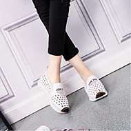 Women's Shoes Leather Spring / Summer / Fall Flats Loafers / Casual Flat Heel Others Black / Red / White