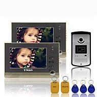 """tmax® 7 """"TFT vezetékes csengő videós kaputelefon kaputelefon 600tvl hd kamera ir (1camera hogy 2monitors)"""