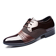 Men's Oxfords Clogs & Mules Spring Fall PU Wedding Outdoor Office & Career Casual Party & Evening Flat Heel Lace-up Others Black Tan