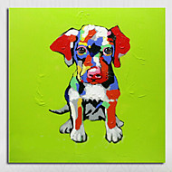 Handmade Modern Adorable Doggy Abstract Decor Lovely Animal Oil Painting On Canvas For Living Room Decor Wall Art