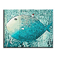 Numbers Hand Painted Canvas Cartoon Oil Painting Big Fish