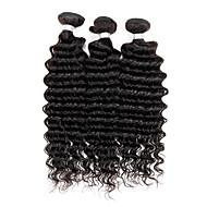 3 pezzi Molto ondulata Tessiture capelli umani Indiano Tessiture capelli umani Molto ondulata