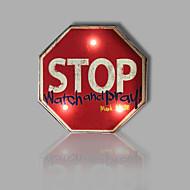 E-HOME® Metal Wall Art LED Wall Decor, STOP Sign LED Wall Decor One PCS
