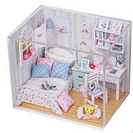 diy kabin hajnal ragyogó kreatív ajándék modell összeszerelése küldeni lányok kézműves