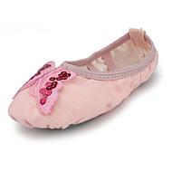 Kids' Dance Shoes Fabric Fabric Belly / Ballet Flats Flat Heel Beginner / Indoor Pink