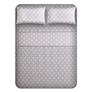 "Sheet Set,4-Piece Microfiber Grey bottom wishful flower with 12"" Pocket Depth"