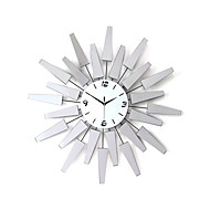 Kulatý / Novinka Módní a moderní Nástěnné hodiny,Květiny / Inspirační / Komiks Akryl / Skleněný / Kov 68cm x 68cm(27in x 27in )