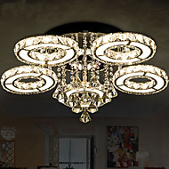 Round Crystal Lamp Modern Atmosphere Living Room Lamp LED Ceiling Lamp Creative Bedroom Lamps 8804