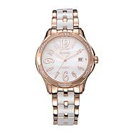 Semdu® Fashion Ceramic Rhinestone Quartz Women Lady Wrist Watch Vintage Handiness Japan Movement Waterproof Watch