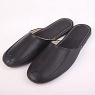 M.livelihood.H® Men's Other Animal Skin Slippers Black-410