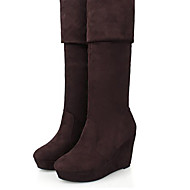 Women's Boots Spring / Fall / Winter Wedges PU Outdoor Wedge Heel Others Black / Brown