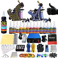 Solong kit de tatouage de tatouage complète 2 14 encres d'alimentation des Poignées aiguille de pro machines