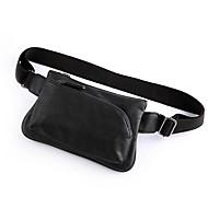 Men PVC Formal Waist Bag Black