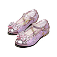 Girl's Flats Spring / Summer / Fall Heels / Comfort Synthetic Outdoor / Dress / Casual Chunky Heel Sequin / Magic TapePink / Silver /