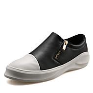 Γυναικεία παπούτσια-Αθλητικά Παπούτσια-Ύπαιθρος Καθημερινό Αθλητικά-Επίπεδο Τακούνι-Ανατομικό-Μικροΐνα-Μαύρο Άσπρο Μαύρο και Άσπρο