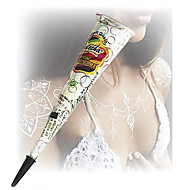 Halloween White Glitter Henna Cones Body Art Mehandi ink jagua Temporary Tattoo Kit