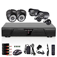 4ch CCTV detekcja Full D1 Rejestrator motion 800tvl zewnątrz kryty noc system kamer wizji