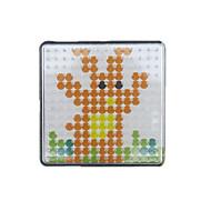 1pcs Vorlage klar pegboard 7,5 * 7,5 cm Platz für 5mm Hama Perlen Bügelperlen