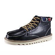 Boty-Kůže-Pohodlné Sněhule Módní boty-Pánské-Černá Modrá Hnědá-Outdoor Kancelář Běžné-Plochá podrážka