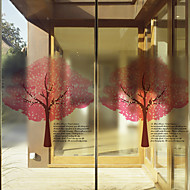 Træer/blade Moderne Vinduesfilm,PVC/Vinyl Materiale Vinduepynt