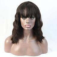 естественная волна парик фронта шнурка младенца обесцвеченных волос сучков полный шнурок девственные парики человеческих волос для черных