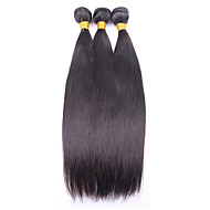 "Brazilian Virgin Hair Straight 3PCS Brazilian Hair Weave Bundles 10""-28"" Brazilian Straight Human Hair Bundles"