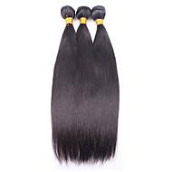 Human Hair vævninger Brasiliansk hår Lige 12 måneder 3 Dele hår vævninger